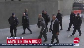 Harvey Weinstein comparece ante juez en Nueva York