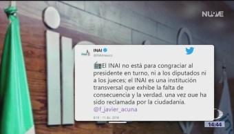INAI defiende su independencia