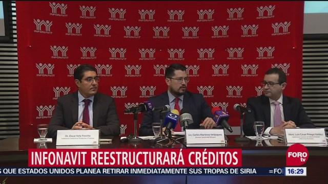 Infonavit reestructura créditos de 160 mil trabajadores