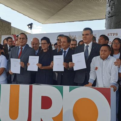 Empresas y Gobierno formalizan convenio de apoyo a jóvenes