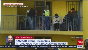 Intoxicados por inhalación de humo en la colonia Morelos, CDMX
