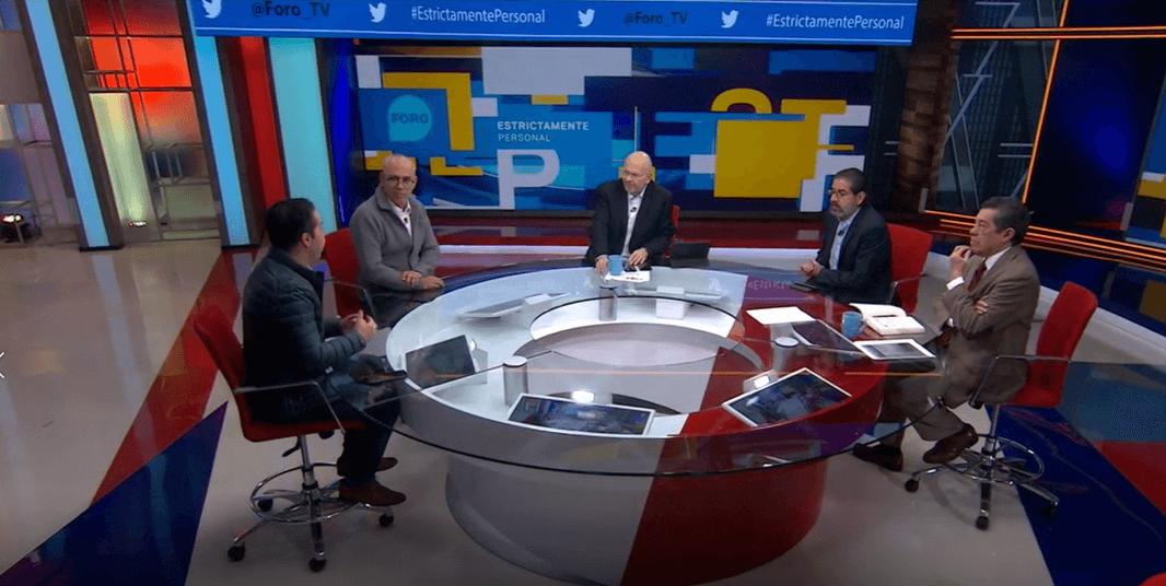 Javier Márquez, Jorge Buendía, Raymundo Riva Palacio, Francisco Abundis y Rafael Cardona. (FOROtv)