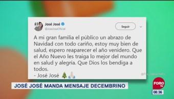 José José manda mensaje decembrino