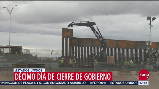 Cierre De Gobierno Cumple 10 Días En Estados Unidos, Cierre De Gobierno, 10 Días, Estados Unidos, Cierre De Gobierno En Estados Unidos, Muro Fronterizo, Presidente, Donald Trump