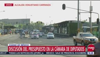 Sigue bloqueo en inmediaciones de San Lázaro mientras diputados están en receso