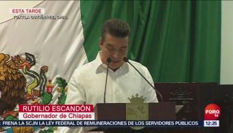 Rutilio Escandón Toma Posesión Como Gobernador De Chiapas, Rutilio Escandón, Toma Posesión, Gobernador De Chiapas, Chiapas