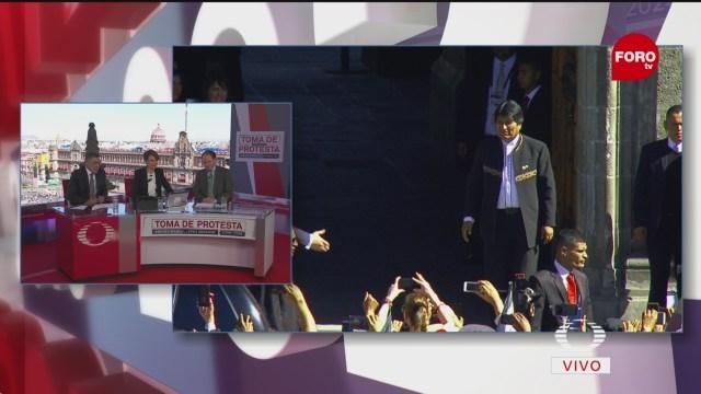 Evo Morales llega a Palacio Nacional para comida con AMLO