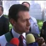 Peña Nieto se dice satisfecho por su administración
