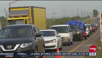 Incrementa flujo vehicular en Sinaloa