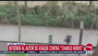 Detienen al autor de ataque contra 'Charlie Hebdo'