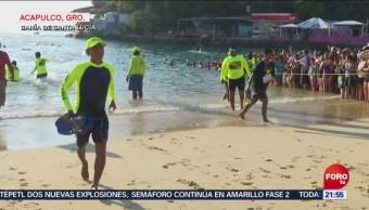 Miles de nadadores participan en Maratón de Aguas Abiertas en Acapulco, Miles de nadadores, Maratón de Aguas Abiertas, Acapulco, Sexagésimo Maratón Internacional de Aguas Abiertas, bahía de Santa Lucía,