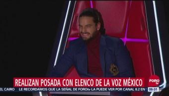 Realizan posada para celebrar el éxito de La Voz México