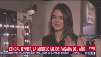 Kendall Jenner, encabeza ranking de las modelos mejor pagadas