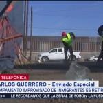 Limpian el área ocupada por migrantes en calles de Tijuana