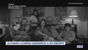 #LoEspectaculardeME: Alfonso Cuarón agradece a su equipo