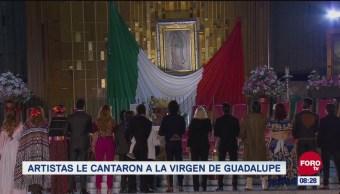 #LoEspectaculardeME: Artistas le cantaron a la Virgen de Guadalupe