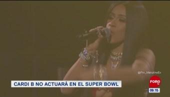 : Cardi B. no actuará en el Super Bowl