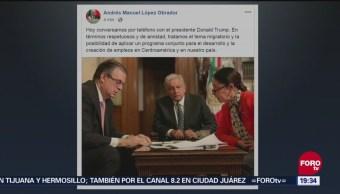 López Obrador Donald Trump Hablan Teléfono