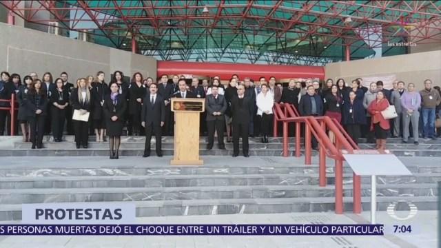 Magistrados y jueces de México protestan contra la Ley de Reducción Salarial