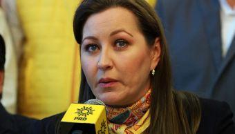 Gobernadora electa de Puebla habla con magistrados del TEPJF