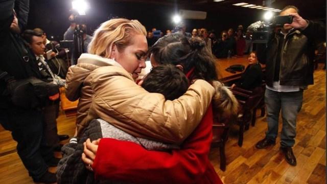 Migrante se reúne en Cd. Juárez con sus tres hijos