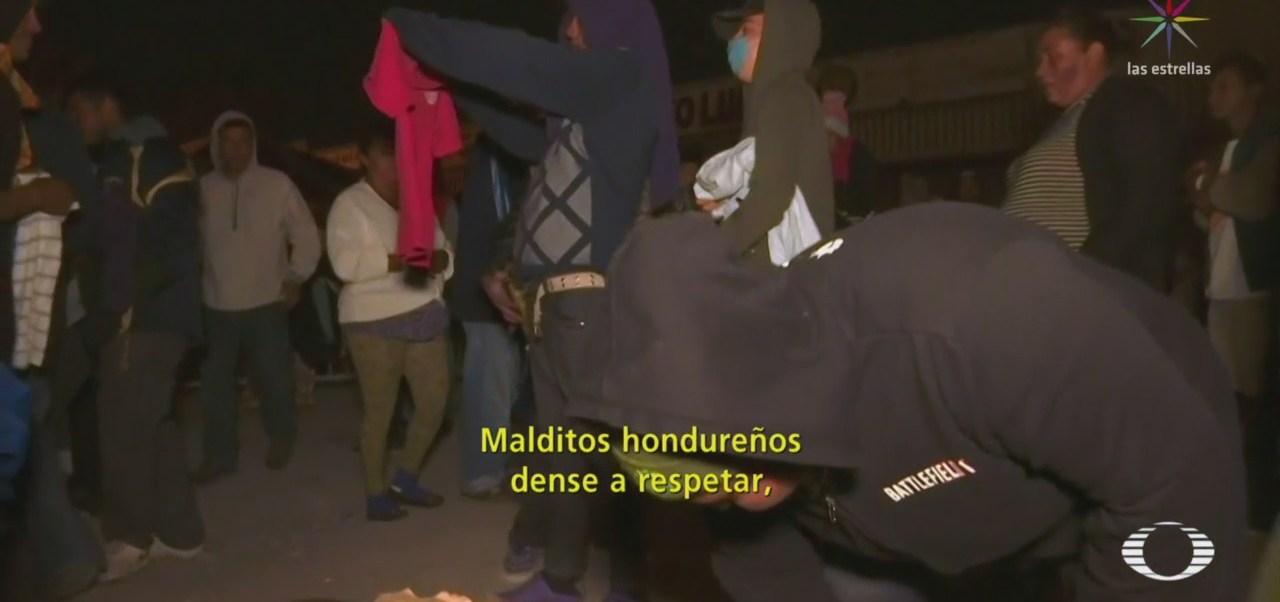Migrantes Centroamericanos Riñen Por Donaciones Tijuana