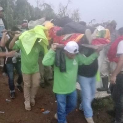Rescatan a montañista accidentado en el Volcán Tacaná, Chiapas