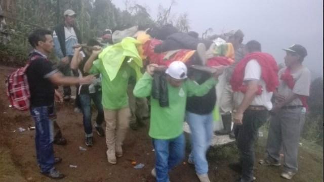 Rescatan montañista accidentado en el Volcán Tacaná, Chiapas