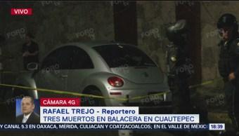 Movilización por homicidio de tres personas en Cuautepec