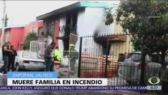 Muere familia por incendio en Zapopan, Jalisco