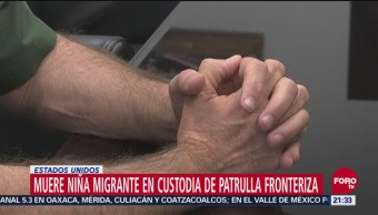 Muere Niña Migrante Custodia De Patrulla Fronteriza