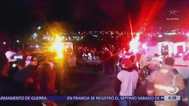 Mueren 9 personas por caída de autobús a barranco en Guanajuato