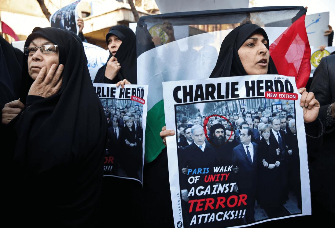 Musulmanes protestando contra el semanario satírico 'Charlie Hebdo'. (AP, archivo)