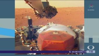 NASA difunde nuevas imágenes de la sonda InSight desde Marte