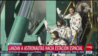Nave Soyuz MS-11 despega de Kazajistán
