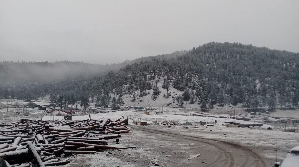 Se registra nevada en La Rosilla en Guanaceví, Durango