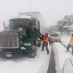 Nevadas provocan cierre de carreteras entre Sonora-Chihuahua