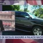 Nicolás Maduro se dirige a Palacio Nacional para reunión con AMLO
