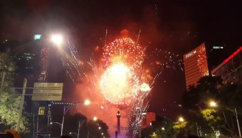 Año Nuevo 2019 CDMX, Año Nuevo En Reforma, CDMX, Año Nuevo 2019, Pirotecnia, Fuegos Artificiales