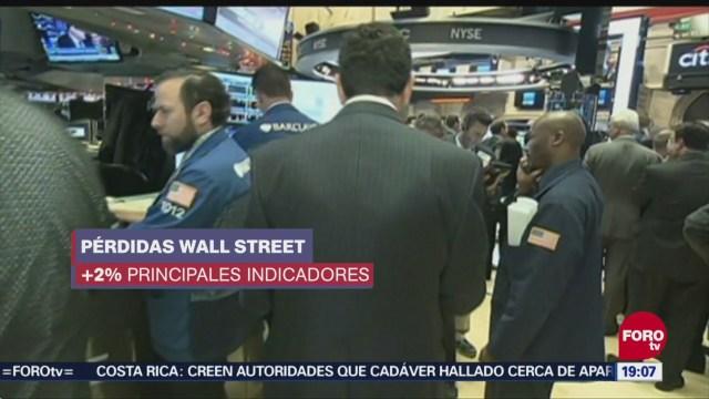 Wall Street Cierra Con Pérdidas La Jornada