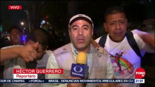 Operativo por evento deportivo en la Ciudad de México
