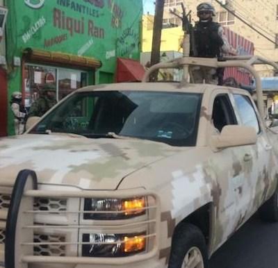 Llega policía militar a Ciudad Juárez, Chihuahua