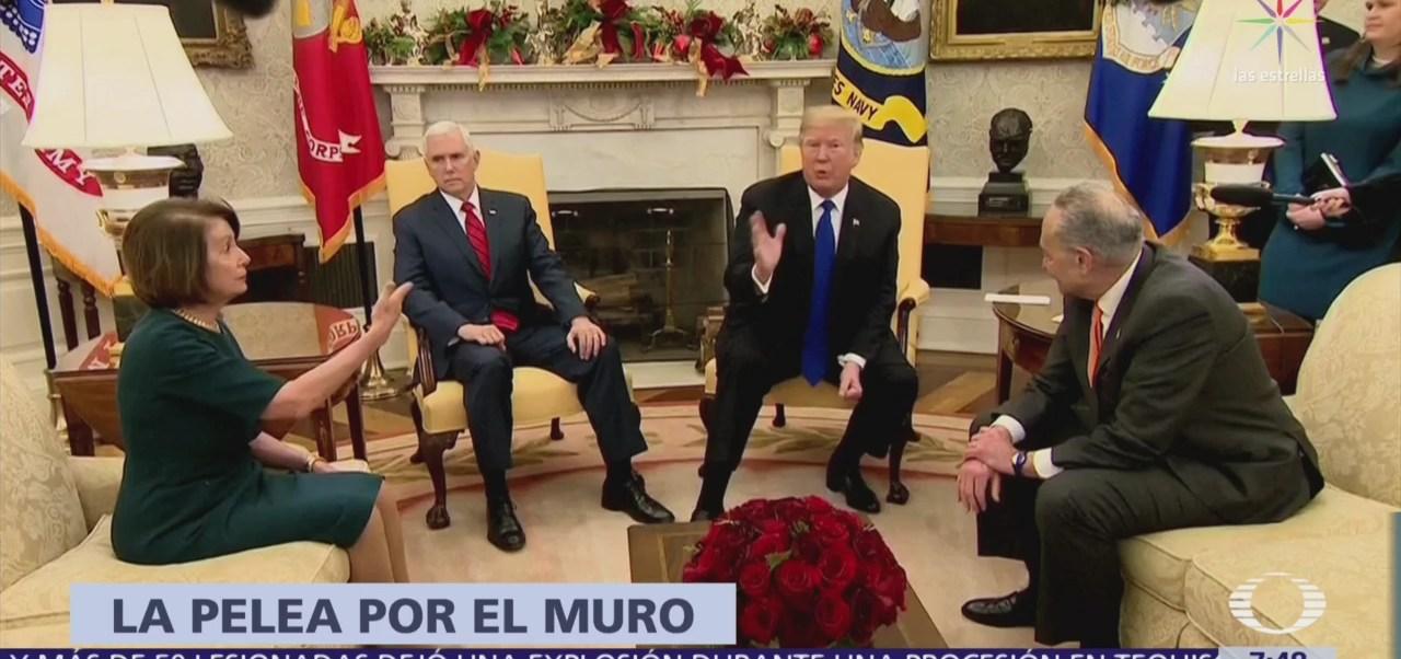 Pelosi y Schumer niegan a Trump recursos para el muro fronterizo