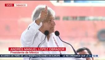 Presenta Amlo Plan Nacional De Refinación, Andrés Manuel López Obrador, Presidente De México, Plan Nacional De Refinación, Tabasco