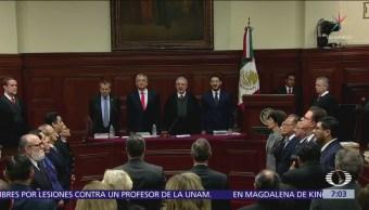 Presidente SCJN rinde informe del Poder Judicial, AMLO asiste