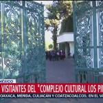 Primeros visitantes de 'Complejo Cultural Los Pinos'