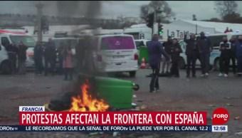 Protestas contra gasolinazo colapsa tránsito en autopista en Francia