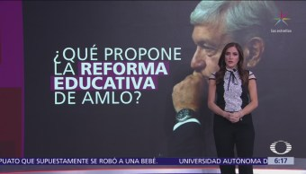 ¿Qué propone la reforma educativa de AMLO?