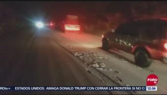 Reabren carreteras en Sonora tras nevadas