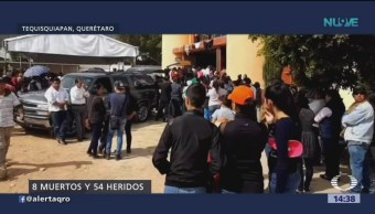 Realizan funerales de víctimas de explosión en Querétaro